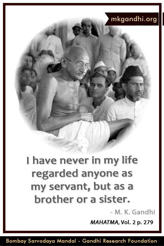 Mahatma Gandhi Quotes on Brotherhood