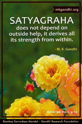 Mahatma Gandhi Quotes on Satyagraha