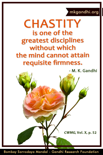 Mahatma Gandhi Quotes on Chastity