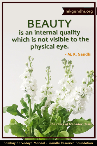 Mahatma Gandhi Quotes on Beauty