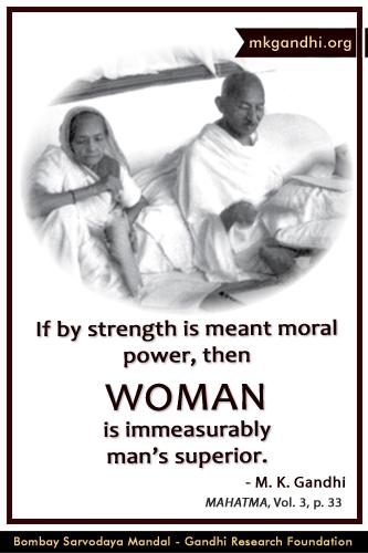Mahatma Gandhi Quotes on Woman