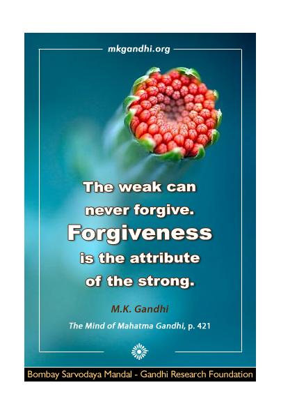Mahatma Gandhi Quote on Forgiveness