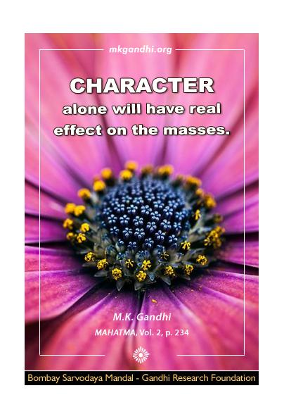 Mahatma Gandhi Quote on Character