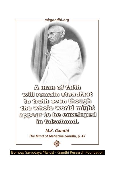 Mahatma Gandhi Quote on Faith, Truth